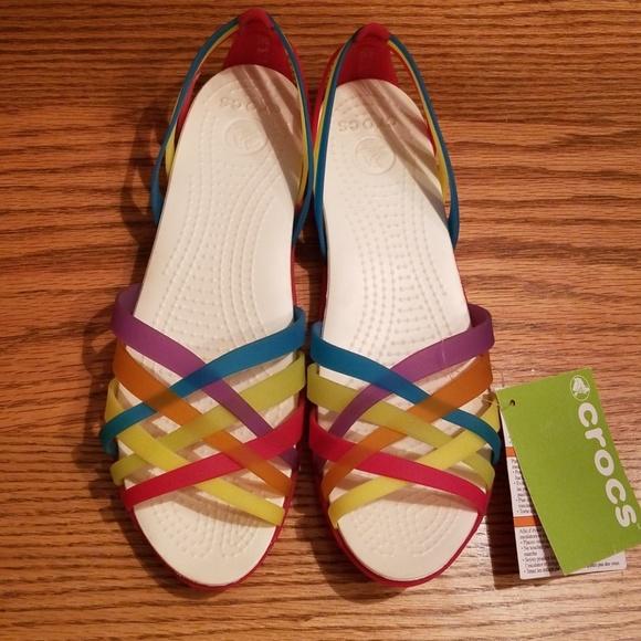 3682a65d818f Crocs Huarache Geranium Sandals
